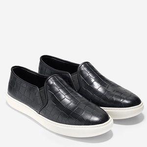 Cole Haan 'Bowie' Croc Embossed Slip-on Sneaker